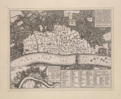 A map or groundplot of the citty of London and the suburbes thereof that is to say all which is within the iurisdiction of the Lord Mayor